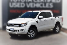 2013 Ford Ranger PX XLS Double Cab White 6 Speed Manual Utility Berwick Casey Area Preview