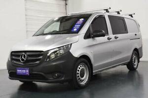 2018 Mercedes-Benz Vito 447 119 BlueTEC LWB Crew Cab Silver 7 Speed Automatic Van Oakleigh Monash Area Preview