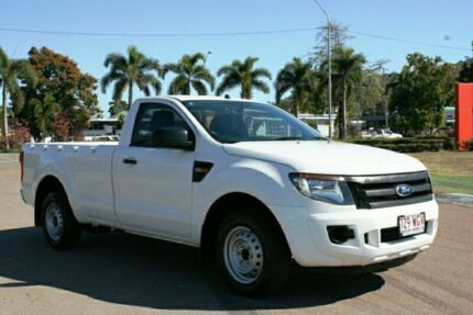 2014 Ford Ranger PX XL 4x2 White 6 Speed Manual Utility Townsville Townsville City Preview