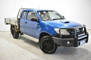 2011 Toyota Hilux KUN26R MY10 SR Xtra Cab Blue 5 Speed Manual Cab Chassis
