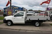 2011 Toyota Hilux TGN16R MY12 Workmate 4x2 White 5 Speed Manual Cab Chassis Altona North Hobsons Bay Area Preview