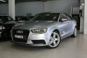 2016 Audi A3 8V MY16 Attraction S Tronic Silver 7 Speed Sports Automatic Dual Clutch Sedan Castle Hill The Hills District Preview