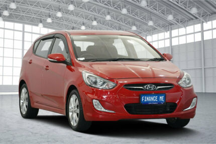 2011 Hyundai Accent RB Premium Red 4 Speed Sports Automatic Hatchback Victoria Park Victoria Park Area Preview