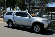 2009 Mitsubishi Triton MN MY10 GLX-R (4x4) Silver 5 Speed Manual 4x4 Double Cab Utility Hillcrest Port Adelaide Area Preview