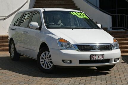 2011 Kia Carnival VQ MY11 S Clear White 4 Speed Sports Automatic Wagon