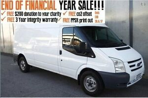 2010 Ford Transit VM Mid Roof MWB White 6 Speed Manual Van Mount Hawthorn Vincent Area Preview