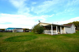 LONG LAKE 3bdrm home with shop and barn on 80 acres