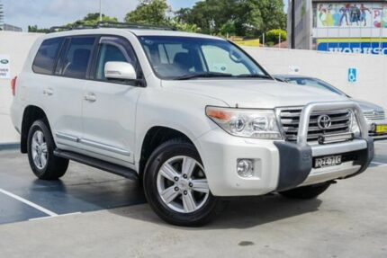 2012 Toyota Landcruiser VDJ200R MY12 Sahara White 6 Speed Sports Automatic Wagon Brookvale Manly Area Preview