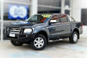 2014 Ford Ranger PX XLT Double Cab Grey 6 Speed Manual Utility Berwick Casey Area Preview