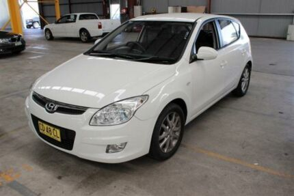 2009 Hyundai i30 FD MY09 SLX White 4 Speed Automatic Hatchback Maryville Newcastle Area Preview