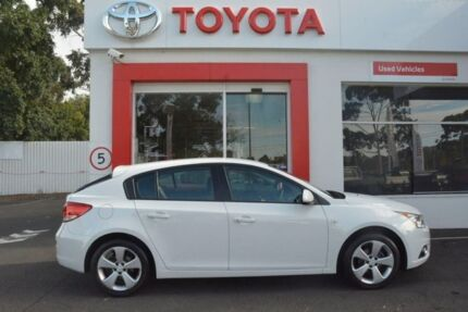 2013 Holden Cruze JH Series II MY13 Equipe White 6 Speed Sports Automatic Hatchback Upper Ferntree Gully Knox Area Preview