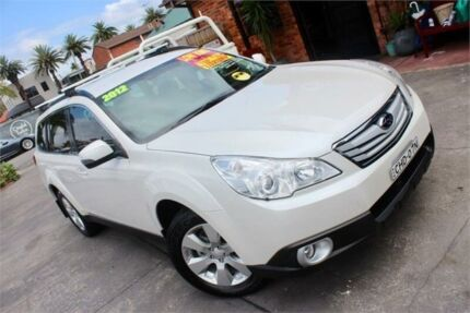 2012 Subaru Outback MY12 2.5I White Continuous Variable Wagon Hamilton Newcastle Area Preview