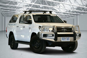 2016 Toyota Hilux GUN126R SR (4x4) Glacier White 6 Speed Manual Dual Cab Chassis Perth Airport Belmont Area Preview