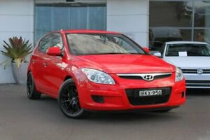 2009 Hyundai i30 FD MY09 SX Red 5 Speed Manual Hatchback Kirrawee Sutherland Area Preview