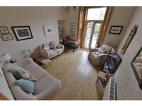 2 Bed gnd floor conv. large townhouse. GCH DG, private garden, period property, 1 min beach, train