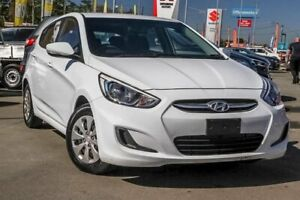 2017 Hyundai Accent RB4 MY17 Active Crystal White 6 Speed Constant Variable Hatchback Aspley Brisbane North East Preview