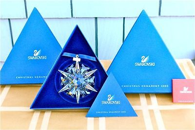 2002 SWAROVSKI CRYSTAL SNOWFLAKE ORNAMENT - MINT IN BOX