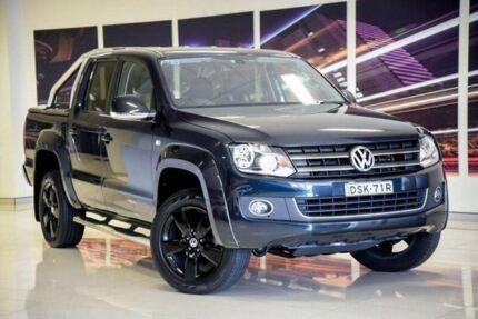 2014 Volkswagen Amarok 2H MY15 TDI420 4Motion Perm Highline Blue 8 Speed Automatic Utility