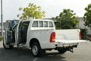 2009 Toyota Hilux TGN16R MY09 Workmate White 5 Speed Manual Utility Bungalow Cairns City Preview
