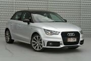2013 Audi A1 8X MY14 Attraction Sportback S tronic Ice Silver/Brilliant Black Roof 7 Speed Springwood Logan Area Preview