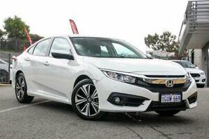 2019 Honda Civic 10th Gen MY18 VTi-L White Constant Variable Sedan