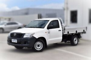 2015 Toyota Hilux TGN16R MY14 Workmate White 5 Speed Manual Cab Chassis Pakenham Cardinia Area Preview