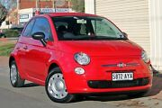 2013 Fiat 500 Series 1 POP Red 5 Speed Manual Hatchback Glenelg Holdfast Bay Preview