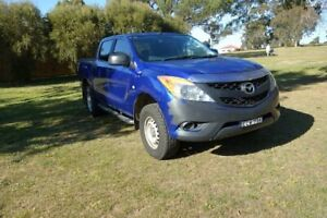 2014 Mazda BT-50 UP0YF1 XT Blue 6 Speed Sports Automatic Utility East Maitland Maitland Area Preview