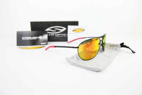 New Smith Optics Serpico Aviator Sunglasses Matte Black Red Mirror SEPCOMMB