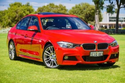 2013 BMW 320i F30 MY1112 Red 8 Speed Sports Automatic Sedan
