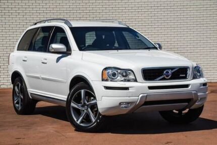 2014 Volvo XC90 P28 MY14 D5 Geartronic R-Design White 6 Speed Sports Automatic Wagon Bayswater Bayswater Area Preview