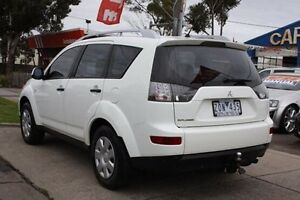 2007 Mitsubishi Outlander ZG MY08 LS White 6 Speed Constant Variable Wagon Altona North Hobsons Bay Area Preview