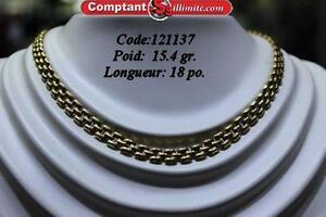 Chaine en or 14 kt   CV121137 Comptant illimite