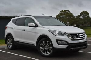 2013 Hyundai Santa Fe DM MY14 Highlander White 6 Speed Sports Automatic Wagon St Marys Mitcham Area Preview
