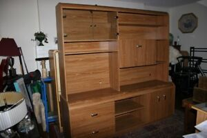 Display Cabinet from 7-Piece Solid Wood Set.