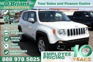 2017 Jeep Renegade Limited - Accident Free w/Mfg Warranty, 4x4