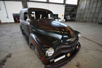 1955 Chevrolet 3100 Green/patina Automatic Panel Van 2x4