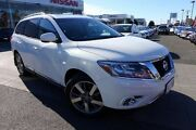 2013 Nissan Pathfinder R52 MY14 Ti X-tronic 4WD White 1 Speed Constant Variable Wagon Hoppers Crossing Wyndham Area Preview
