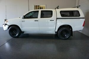 2006 Toyota Hilux GGN25R 06 Upgrade SR (4x4) White 5 Speed Automatic Dual Cab Pick-up