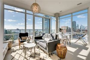 Sun Drenched 1 Bedroom w/Incredible City Views + Parking & Locke