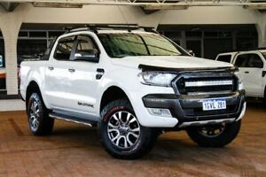 2016 Ford Ranger PX MkII Wildtrak Double Cab White 6 Speed Sports Automatic Utility Melville Melville Area Preview