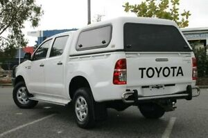 2012 Toyota Hilux KUN26R MY12 SR Double Cab White 5 Speed Manual Utility Bungalow Cairns City Preview