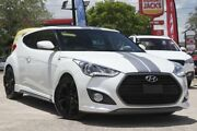 2016 Hyundai Veloster FS4 Series II SR Coupe D-CT Turbo White 7 Speed Sports Automatic Dual Clutch Kedron Brisbane North East Preview