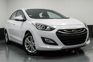 2014 Hyundai i30 GD2 MY14 Trophy White 6 Speed Sports Automatic Hatchback Hamilton East Newcastle Area Preview