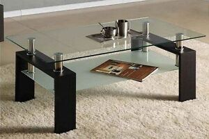 COFFEE TABLE ESPRESSO /CHROME FOR ONLY $139.99 London Ontario image 1