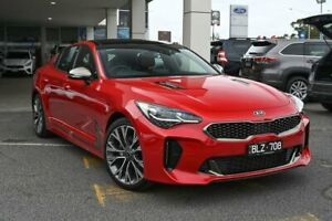 2019 Kia Stinger CK MY20 GT-Line Fastback Hichroma Red 8 Speed Sports Automatic Sedan