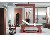 Beautiful REM Beauty Room Wooden Bed, Cabinet With Integrated Sink, Trolley, Mirror/shelf Unit