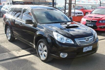 2010 Subaru Outback My10 20d Black 6 Speed Manual Wagon Cars
