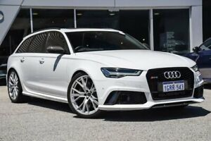 2016 Audi RS6 4G MY16 performance Avant Tiptronic quattro White 8 Speed Sports Automatic Wagon Osborne Park Stirling Area Preview