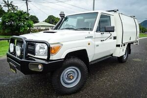 2008 Toyota Landcruiser VDJ79R Workmate (4x4) White 5 Speed Manual Cab Chassis Bungalow Cairns City Preview